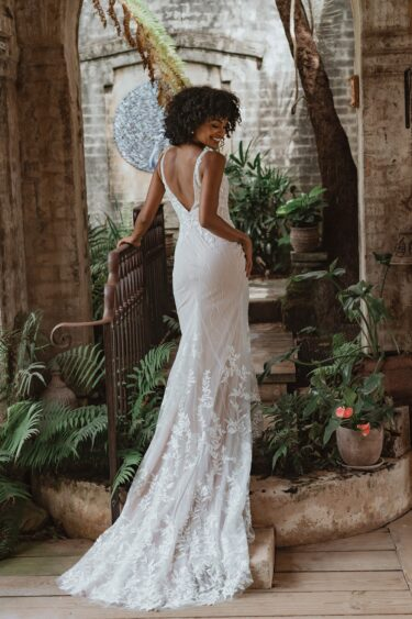TC346 VERONA Wedding Dress back