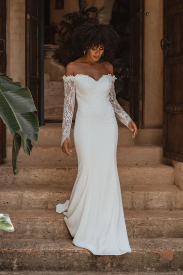 TC364 HAVANA wedding dress - Vintage White