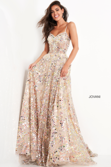 Jovani 04630 Gold front