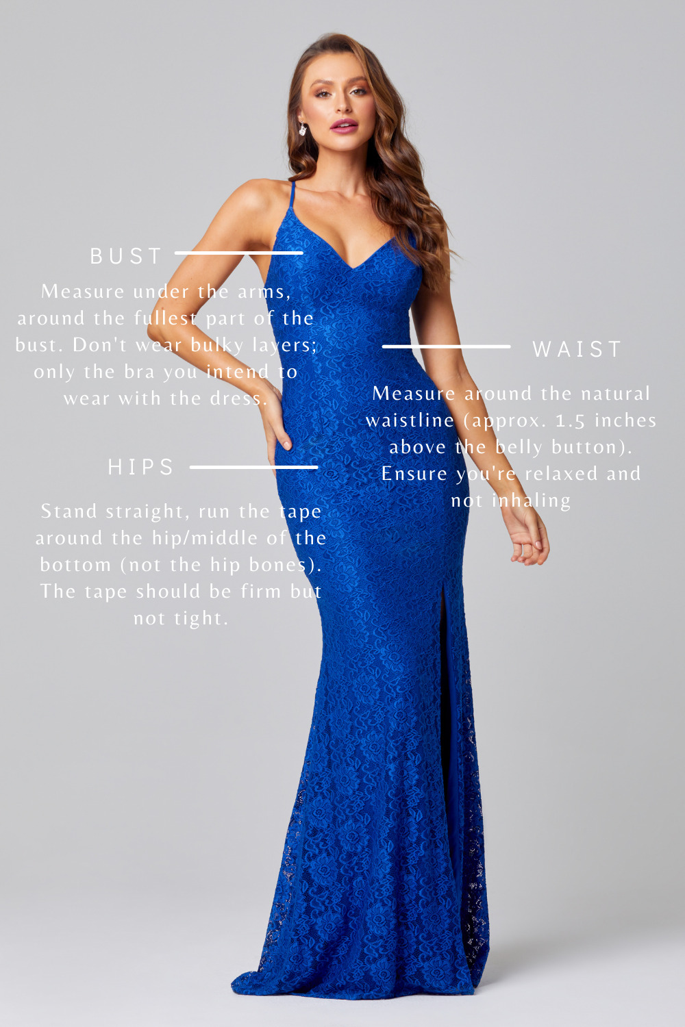 How to measure yourself for your dress