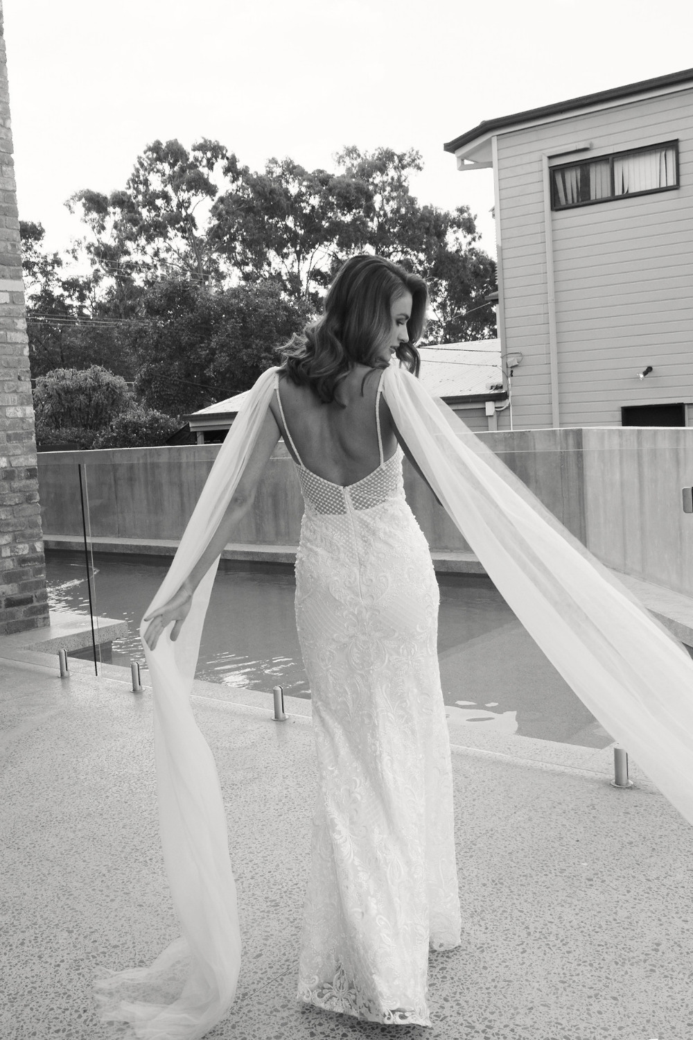 Detachable tulle angel wings - in action