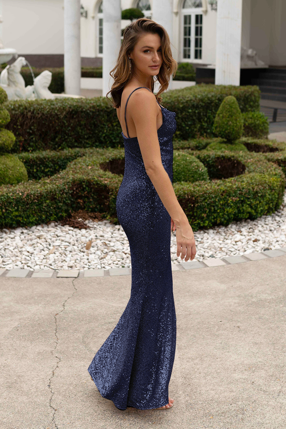 TO860 Sydney navy sequin side